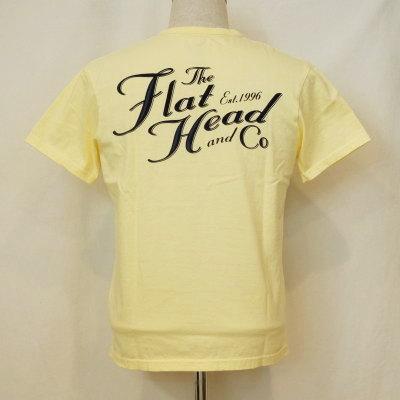 THC-168-ライトイエロー-TFH&CO-THC168-FLATHEAD-フラットヘッドTシャツ【送料無料】【smtb-tk】