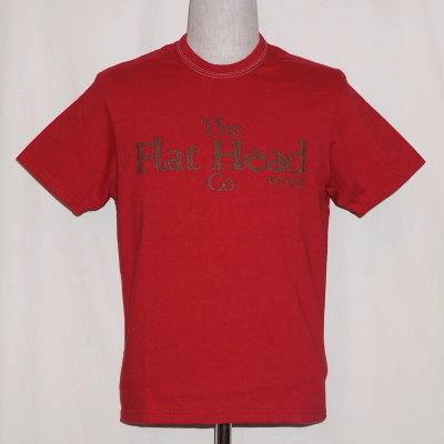 THC-172-ダークレッド-FH-THC172-FLATHEAD-フラットヘッドTシャツ【送料無料】【smtb-tk】