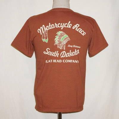 THO-36W-ブラウン-SOUTH DAKOTA-THO36W-FLATHEAD-フラットヘッドTシャツ【送料無料】【smtb-tk】