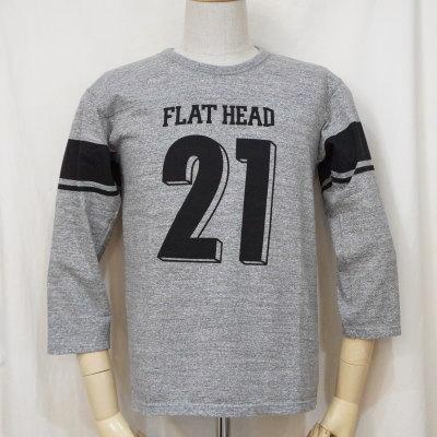 F-TKTF-001-GRY-フットボールTシャツ・七分袖Tシャツ001-FTKTF001-七分袖Tシャツ【送料無料】【smtb-tk】
