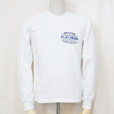 F-THCL-002-ホワイト-CLUB-FTHCL002-FLATHEAD-フラットヘッドロングスリーブTシャツ-長袖Tシャツ-ロンT【送料無料】【smtb-tk】