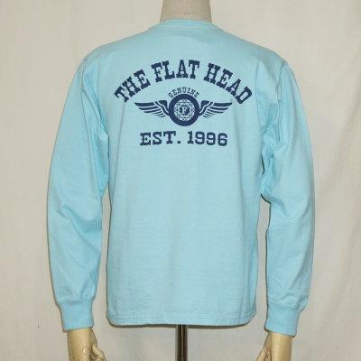 F-THCL-205-サックス-フラットヘッドロングTシャツ205-FTHCL205-FLATHEAD-フラットヘッドロングスリーブTシャツ-長袖Tシャツ-ロンT【送料無料】【smtb-tk】