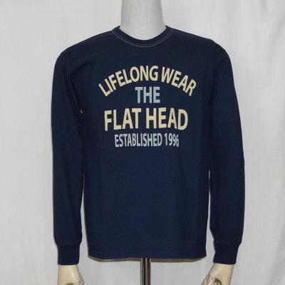 F-THCL-207-ネイビー-フラットヘッドロングTシャツ207-FTHCL207-FLATHEAD-フラットヘッドロングスリーブTシャツ-長袖Tシャツ-ロンT【送料無料】【smtb-tk】