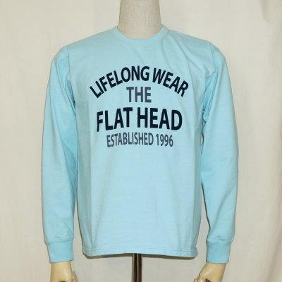 F-THCL-207-サックス-フラットヘッドロングTシャツ207-FTHCL207-FLATHEAD-フラットヘッドロングスリーブTシャツ-長袖Tシャツ-ロンT【送料無料】【smtb-tk】