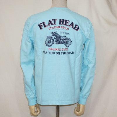 F-THCL-208-SAX-フラットヘッドロングTシャツ208-FTHCL208-FLATHEAD-フラットヘッドロングスリーブTシャツ-長袖Tシャツ-ロンT【送料無料】【smtb-tk】