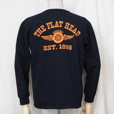 F-THCL-502-BK-フラットヘッドTHC系ヘンリーネック長袖Tシャツ502-FTHCL502-FLATHEAD-フラットヘッドロングスリーブTシャツ-長袖Tシャツ-ロンT【送料無料】【smtb-tk】