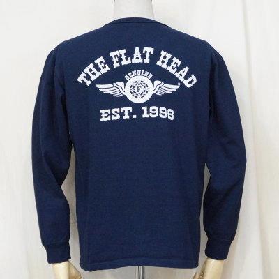 F-THCL-502-NV-フラットヘッドTHC系ヘンリーネック長袖Tシャツ502-FTHCL502-FLATHEAD-フラットヘッドロングスリーブTシャツ-長袖Tシャツ-ロンT【送料無料】【smtb-tk】