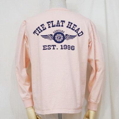 F-THCL-502-LPK-フラットヘッドTHC系ヘンリーネック長袖Tシャツ502-FTHCL502-FLATHEAD-フラットヘッドロングスリーブTシャツ-長袖Tシャツ-ロンT【送料無料】【smtb-tk】