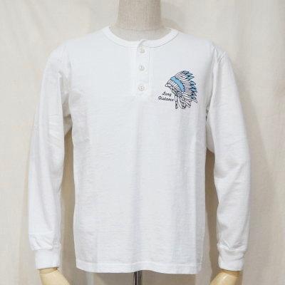 FN-THCL-503-WH-フラットヘッドTHC系ヘンリーネック長袖Tシャツ503-FNTHCL503-FLATHEAD-フラットヘッドロングスリーブTシャツ-長袖Tシャツ-ロンT【送料無料】【smtb-tk】