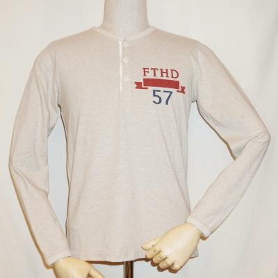THE-01W-オートミール-FTHD 57-THE01W-FLATHEAD-フラットヘッド長袖Tシャツ-FLATHEAD-フラットヘッドヘンリーネック長袖Tシャツ【送料無料】【smtb-tk】