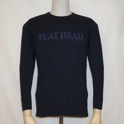 THLD-002-ブラック-FLAT HEAD-THLD002-FLATHEAD-フラットヘッドサーマルTシャツ-ショルダーパッドサーマル【送料無料】【smtb-tk】