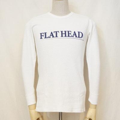 THLD-002-ホワイト-FLAT HEAD-THLD002-FLATHEAD-フラットヘッドサーマルTシャツ-ショルダーパッドサーマル【送料無料】【smtb-tk】