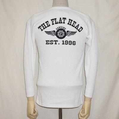 THLD-009-ホワイト-FH FLYING WHEEL-THLD009-FLATHEAD-フラットヘッドサーマルTシャツ-ショルダーパッドサーマル-SHOULDER PAD THERMAL【送料無料】【smtb-tk】