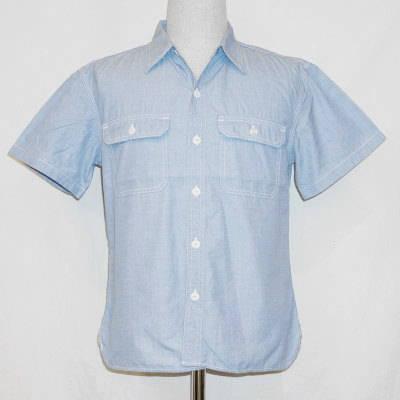 7120HW-ブルー-シャンブレーワークシャツ半袖7120-FLATHEAD-フラットヘッドワークシャツ-GLORYPARK-グローリーパークシャツ【送料無料】【smtb-tk】