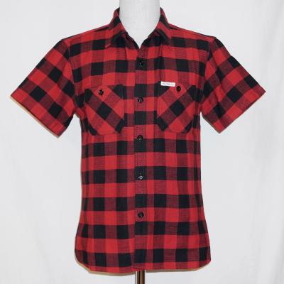 CO-24HW-レッドブラック-ブロックチェックワークシャツ24半袖-CO24HW-FLATHEAD-フラットヘッドシャツ【送料無料】【smtb-tk】