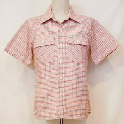 CO-30HW-レッド-チェックワークシャツ30半袖-CO30HW-FLATHEAD-フラットヘッドシャツ【送料無料】【smtb-tk】