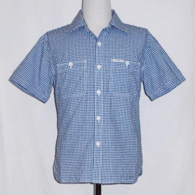 CO-32HW-インディゴ-ギンガムワークシャツ32半袖-CO32HW-FLATHEAD-フラットヘッドシャツ【送料無料】【smtb-tk】