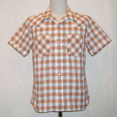 CW-72HW-オレンジ-チェックウエスタンシャツ72半袖-CW72HW-FLATHEAD-フラットヘッドシャツ【送料無料】【smtb-tk】