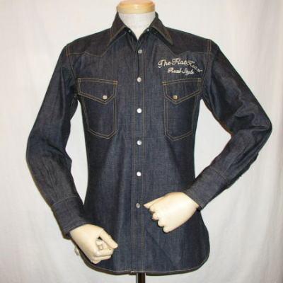7001-SP08-스페셜 데님 웨스턴 셔츠 08-7001 SP08-FLATHEAD-플랫 헤드 데님 셔츠