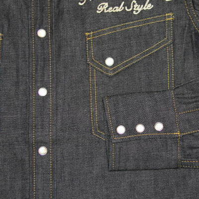 7001-SP08-special denim western shirt 08-7001SP08-FLATHEAD- flat head denim shirts