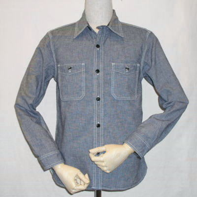 CO-06W-インディゴ-ピンチェックワークシャツ06長袖-CO06W-FLATHEAD-フラットヘッドシャツ【送料無料】【smtb-tk】