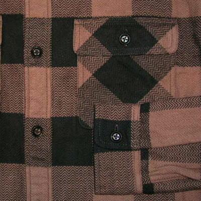 HN-52W-브라운-헤비 네루 셔츠 52-HN52W-FLATHEAD-플랫 셔츠