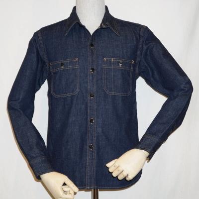 7013W-デニムワークシャツ長袖7013-FLATHEAD-フラットヘッドデニムシャツ【送料無料】【smtb-tk】