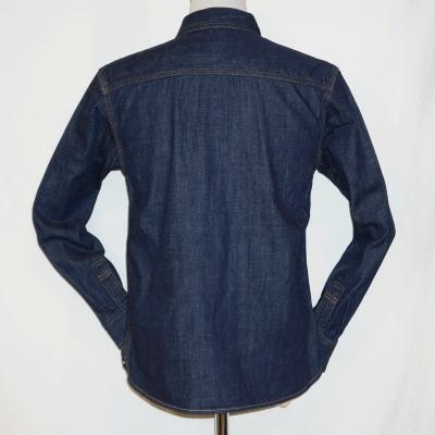 7013W-데님 워크 셔츠 긴 소매 7013-FLATHEAD-플랫 데님 셔츠