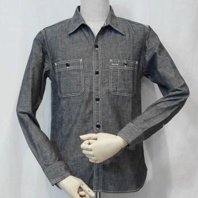 7116W-ブラック-シャンブレーワークシャツ長袖7116-FLATHEAD-フラットヘッドワークシャツ-GLORYPARK-グローリーパークシャツ【送料無料】【smtb-tk】