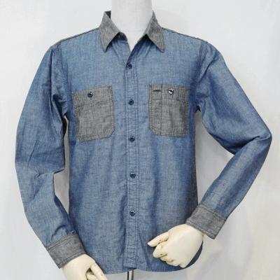 7116W-ブルーブラック-シャンブレーワークシャツ長袖7116-FLATHEAD-フラットヘッドワークシャツ-GLORYPARK-グローリーパークシャツ【送料無料】【smtb-tk】