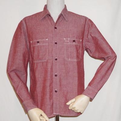 7116WR-レッド-シャンブレーワークシャツ長袖7116レギュラーサイズ-FLATHEAD-フラットヘッドワークシャツ-GLORYPARK-グローリーパークシャツ【送料無料】【smtb-tk】