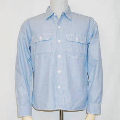 7120W-ブルー-シャンブレーワークシャツ長袖7120-FLATHEAD-フラットヘッドワークシャツ-GLORYPARK-グローリーパークシャツ【送料無料】【smtb-tk】