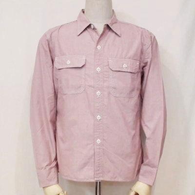 7120W-レッド-シャンブレーワークシャツ7120長袖-FLATHEAD-フラットヘッドワークシャツ-GLORYPARK-グローリーパークシャツ【送料無料】【smtb-tk】