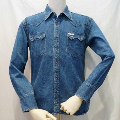 7202 C-denim shirt-FLATHEAD-flat head denim shirt - PALMSLABEL-Palms label denim shirt.
