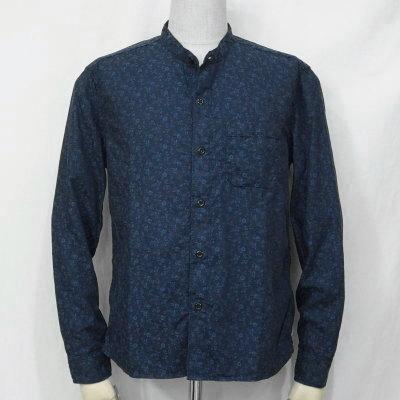 CL-SH004-NV-バンドカラーシャツ004-CLSH004-FLATHEAD-フラットヘッドシャツ-Club Label-クラブレーベルシャツ-シャツ長袖【送料無料】【smtb-tk】