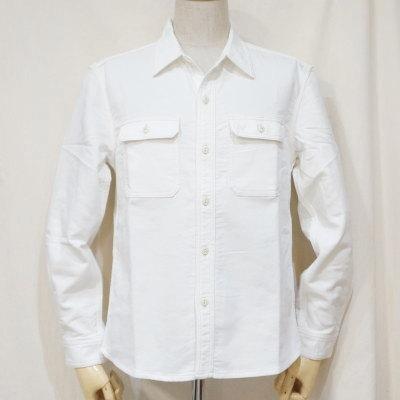 CL-SH010-WH-ピケワークシャツ010-CLSH010-FLATHEAD-フラットヘッドシャツ-Club Label-クラブレーベルシャツ-シャツ長袖【送料無料】【smtb-tk】