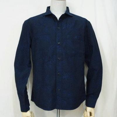 CL-SH013-NV-ハイビスカスワイドスプレッドカラーシャツ013-CLSH013-FLATHEAD-フラットヘッドシャツ-Club Label-クラブレーベルシャツ-シャツ長袖【送料無料】【smtb-tk】