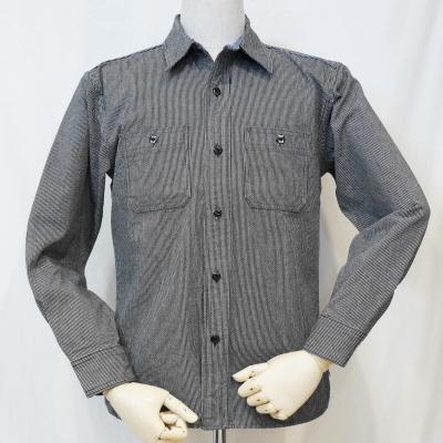 CO-10WR-チャコール-ピンヒッコリーワークシャツ10長袖レギュラーサイズ-CO10WR-FLATHEAD-フラットヘッドシャツ【送料無料】【smtb-tk】