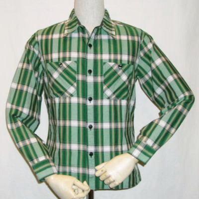 CO-12W-グリーン-チェックワークシャツ12長袖-CO12W-FLATHEAD-フラットヘッドシャツ-GLORYPARK-グローリーパークシャツ【送料無料】【smtb-tk】