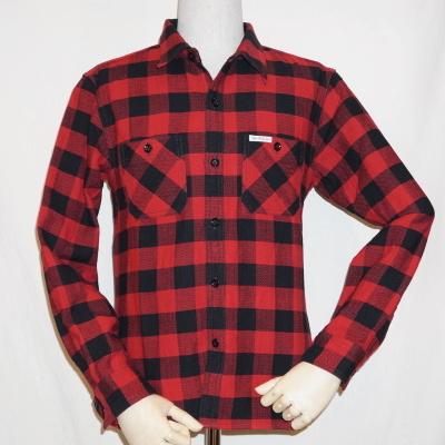 CO-24W-レッドブラック-ブロックチェックワークシャツ24長袖-CO24W-FLATHEAD-フラットヘッドシャツ【送料無料】【smtb-tk】