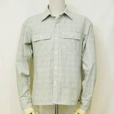 CO-30W-グリーン-チェックワークシャツ30長袖-CO30W-FLATHEAD-フラットヘッドシャツ【送料無料】【smtb-tk】