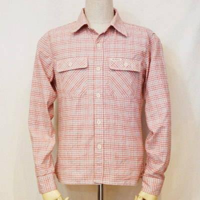 CO-30W-レッド-チェックワークシャツ30長袖-CO30W-FLATHEAD-フラットヘッドシャツ【送料無料】【smtb-tk】