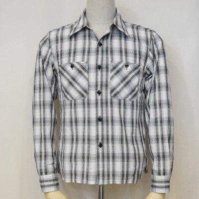 CO-31W-ブラック-ネイティブチェックワークシャツ31長袖-CO31W-FLATHEAD-フラットヘッドシャツ【送料無料】【smtb-tk】