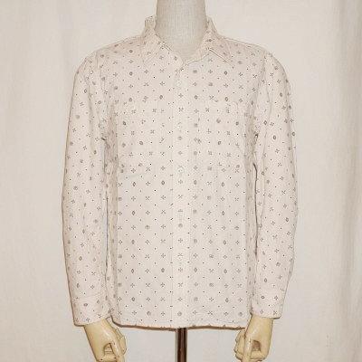 CO-35WR-ベージュ-ネイティブプリントワークシャツ35長袖レギュラーサイズ-CO35WR-FLATHEAD-フラットヘッドシャツ【送料無料】【smtb-tk】