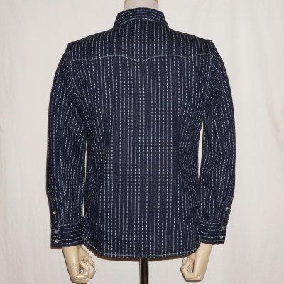 선행 예약 접수 중! F-DS101-워 밧 슈 웨스턴 셔츠 긴 소매 F-DS101-FDS101-FLATHEAD-플랫 데님 셔츠-웨스턴 셔츠 긴 팔-긴 팔 셔츠