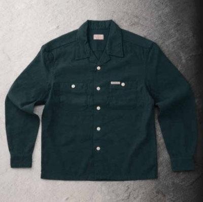 先行予約受付中!F-SCO-006L-BL-トリブレンドシャツ006長袖-FSCO006L-FLATHEAD-フラットヘッドシャツ-シャツ長袖-オープンカラーシャツ【送料無料】【smtb-tk】