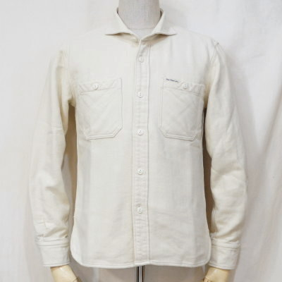 F-SNO-203L-ホワイト-ワイドスプレッドネルシャツ203L-FSNO203L-FLATHEAD-フラットヘッドシャツ-ワークシャツ-シャツ長袖【送料無料】【smtb-tk】