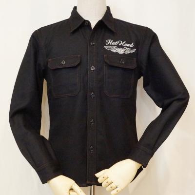 WS-04W-ブラック-ウールシャツ04長袖-WS04W-FLATHEAD-フラットヘッドウールシャツ・フラットヘッドシャツ【送料無料】【smtb-tk】