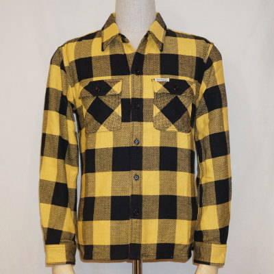 HN-52W-イエロー-ヘビーネルシャツ52-HN52W-FLATHEAD-フラットヘッドシャツ【送料無料】【smtb-tk】