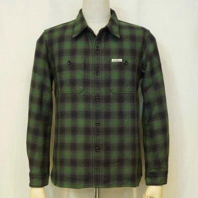 HN-64W-グリーン-ヘビーネルシャツ64-HN64W-FLATHEAD-フラットヘッドシャツ-ワークシャツ【送料無料】【smtb-tk】